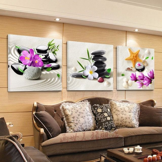 No frame canvas painting wall pictures for living room