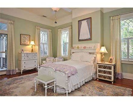 What little Miss wouldn't love to have this room. Christening gown is a charming accent.