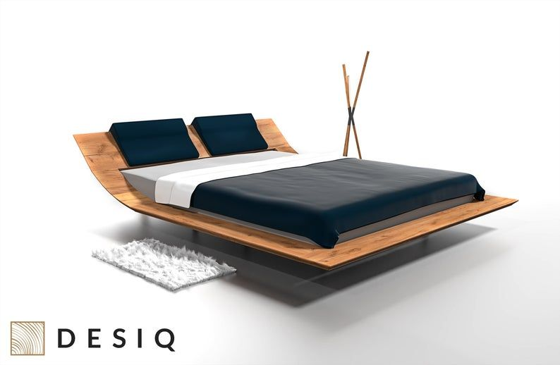 Lebron Wooden Bed Solid Wood In 2020 Wooden Bed Upholstered