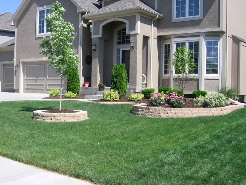 landscaping ideas with landscaping blocks | Landscape Ideas for ...