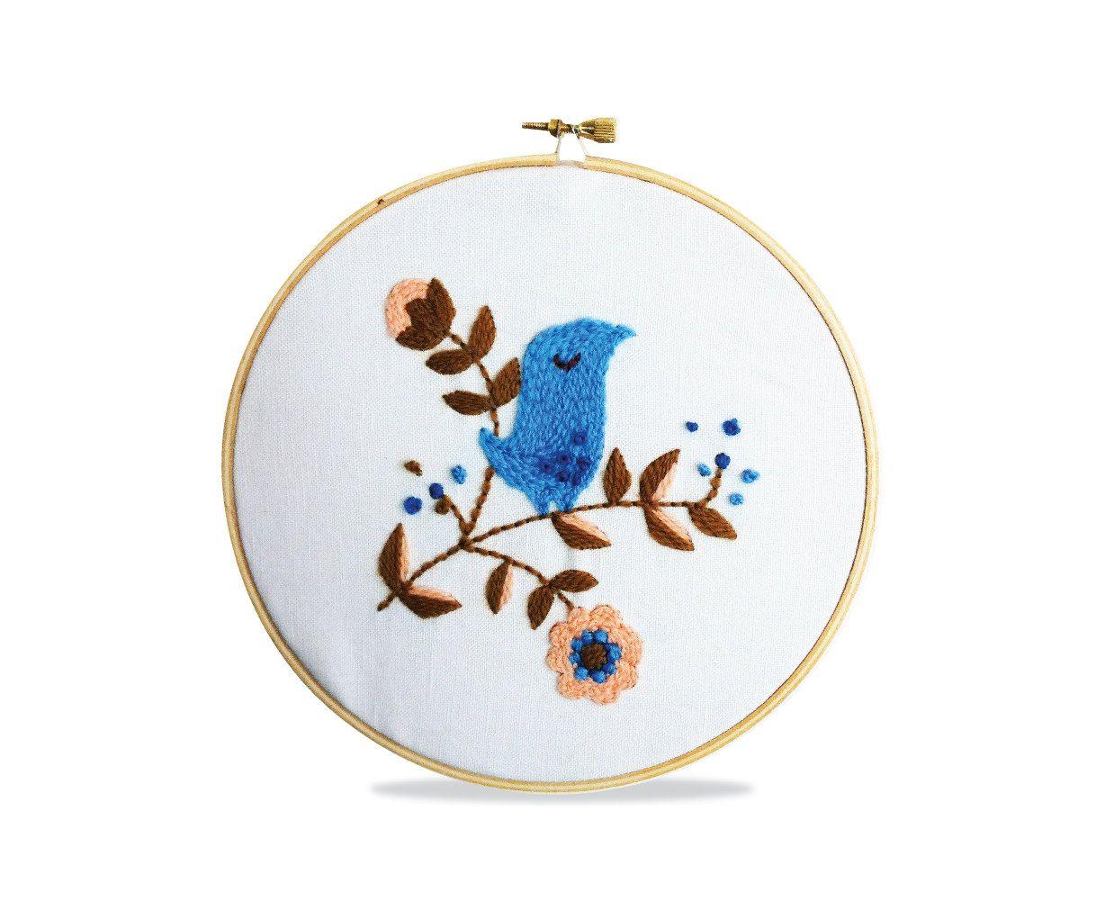 Cheeky Bird Crewel Embroidery Pattern | Quiero irme y Quiero