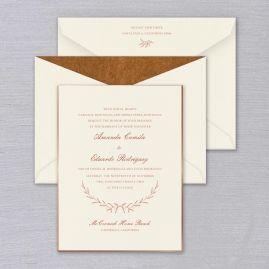 William Arthur Wedding Invitations Crane Stationery Laurel Wedding Invitation Wedding Invitations Wedding Cards