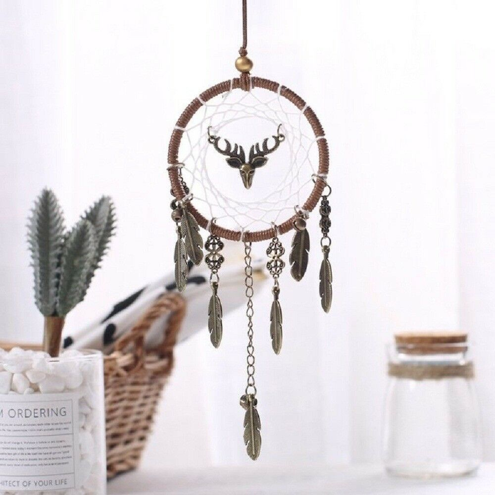 Handmade Dream Catcher Hanging wall Home Decor Craft Ornament Vintage Feathers