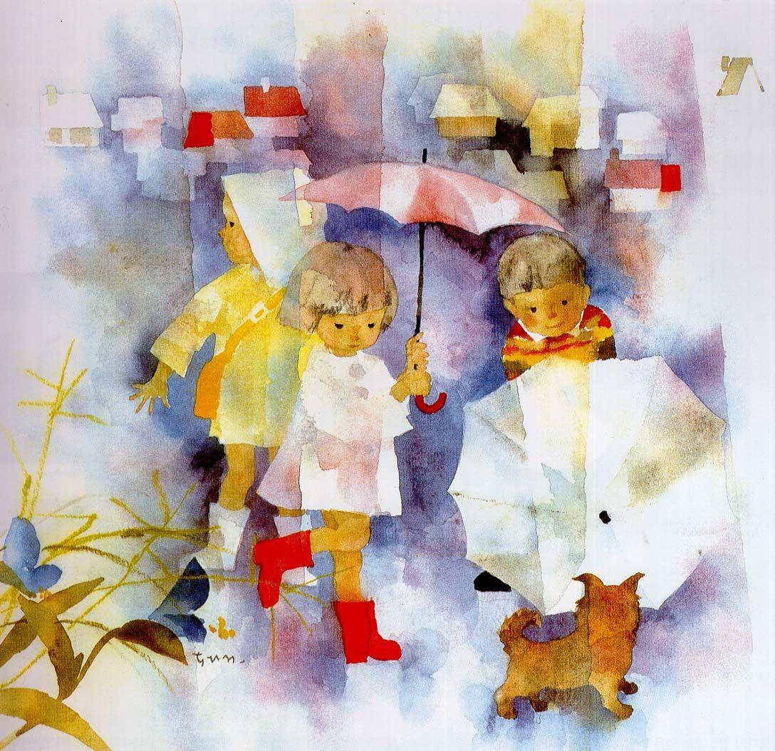 Chihiro Iwasaki 일러스트레이션 그림 그림 그리기