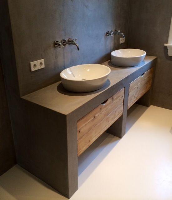 badkamermeubel beton - google zoeken | interior design | pinterest, Badkamer