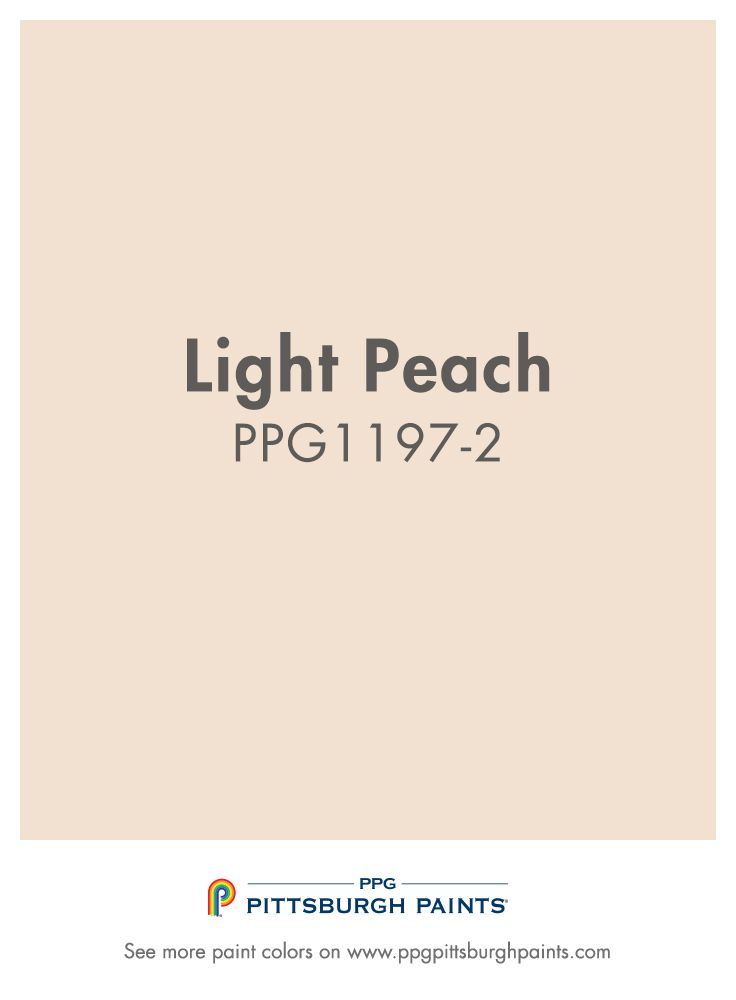 Light Peach Ppg1197 2 From Ppg Pittsburgh Paints Orange