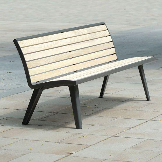 Banc et chaise montreal bois mobilier urbain area park benches bench et park - Mobilier urbain banc bois ...