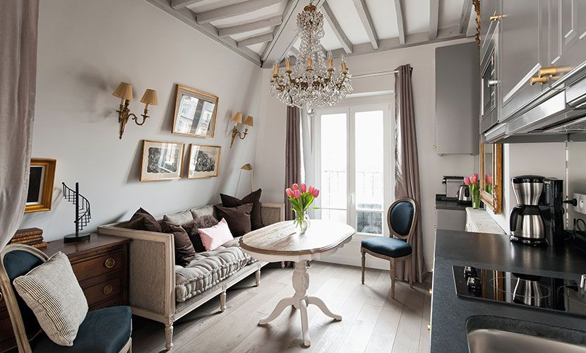 This Charming Studio Apartment Rental In Paris Is A Little Jewel With Beautiful Decor And Picture Perfect Views Of The Eiffel Tower