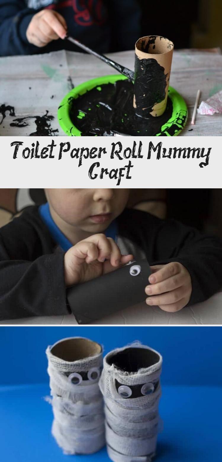 Toilet Paper Roll Mummy Craft #toiletpaperrolldecor