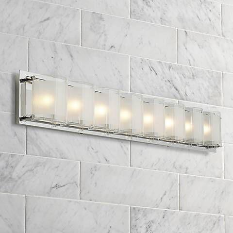Possini Euro Design Gl Bands 30 1 2 Wide Bath Light