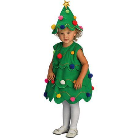 Little Christmas Tree Toddler Halloween Costume Walmart Com Christmas Tree Costume Tree Costume Toddler Christmas Tree