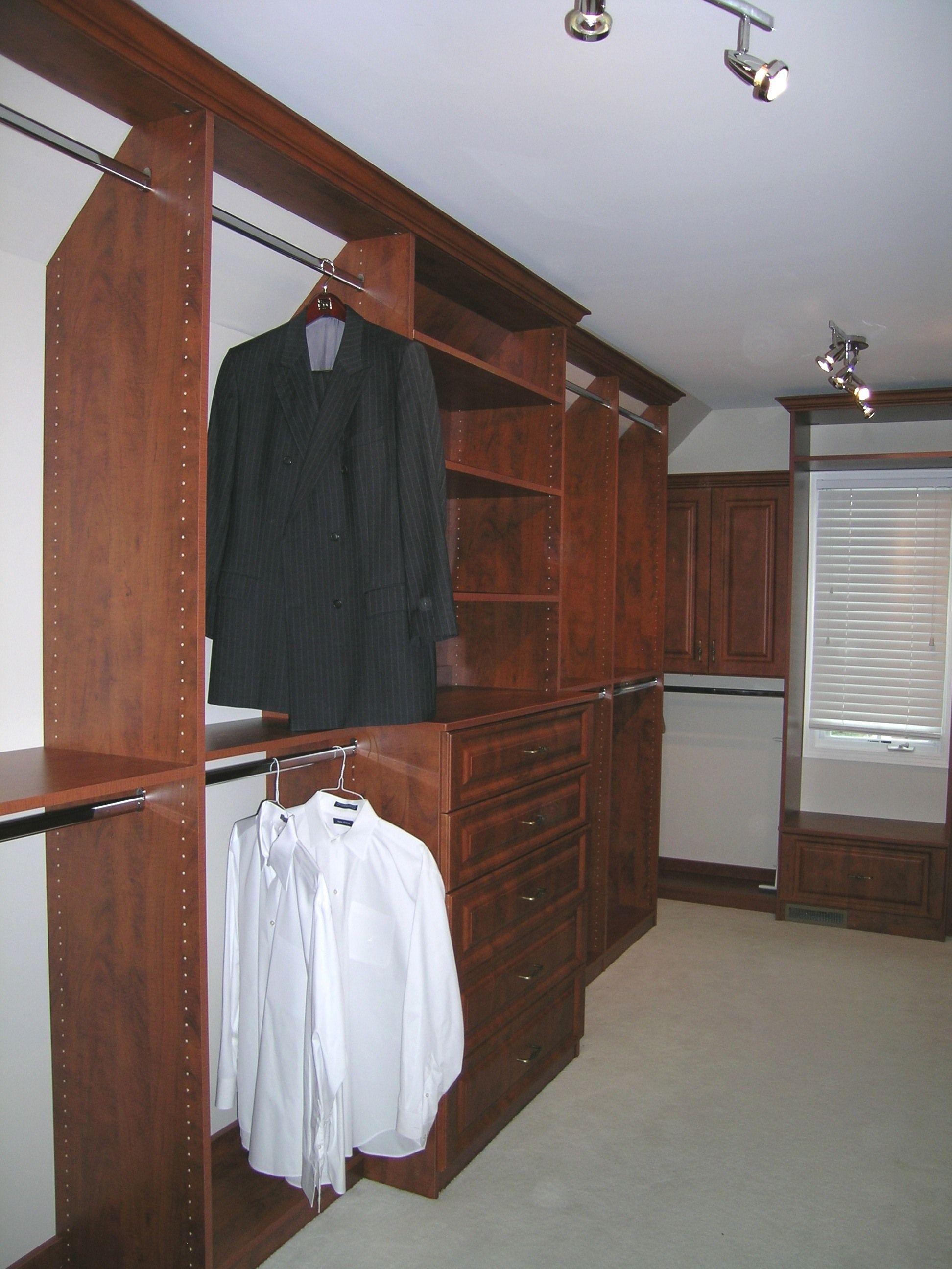 Floor To Angled Ceiling Closet Organization
