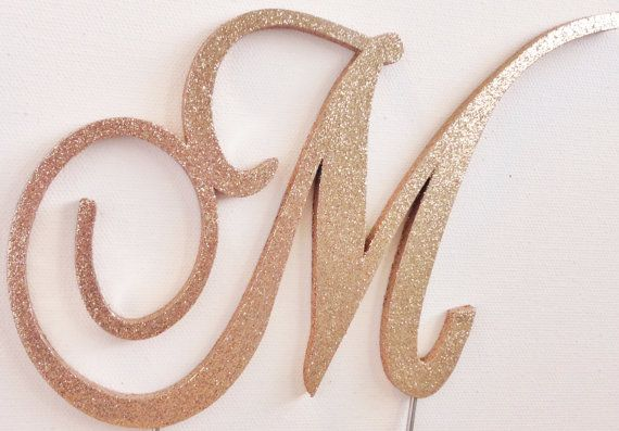 Fancy Letter Cake Toppers