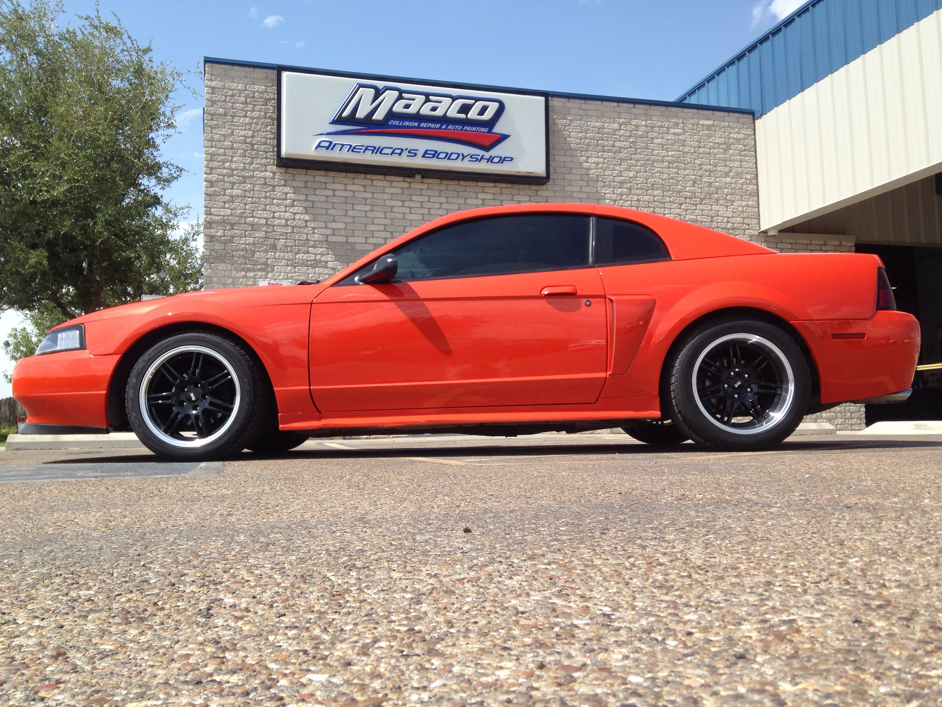 Mustang Painted At Maaco Lubbock Tx