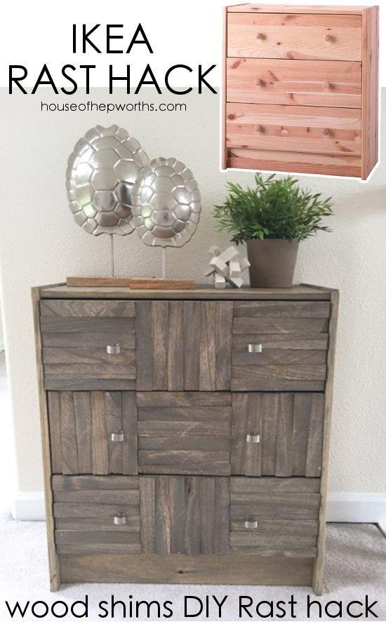 diy furniture makeover full tutorial. IKEA Rast Hack Using Wood Shims || AMAZING DRESSER - Full Step-by- · Dresser FurnitureFurniture MakeoverDiy Diy Furniture Makeover Tutorial L