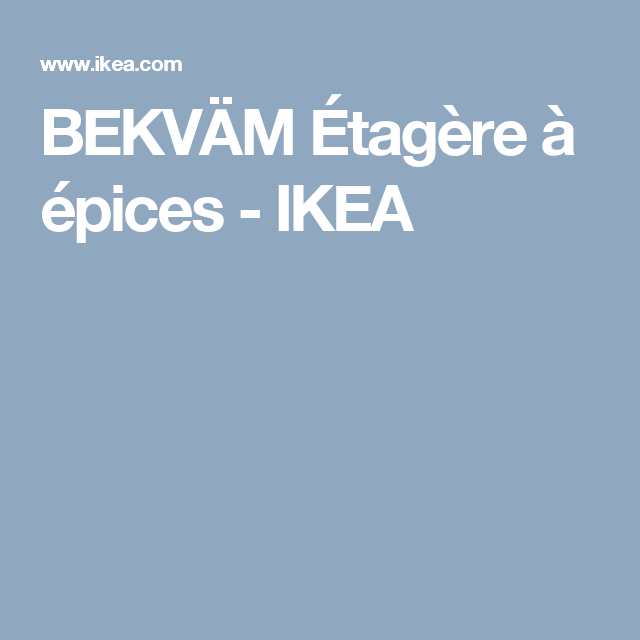 BEKVÄM Étagère à épices - IKEA