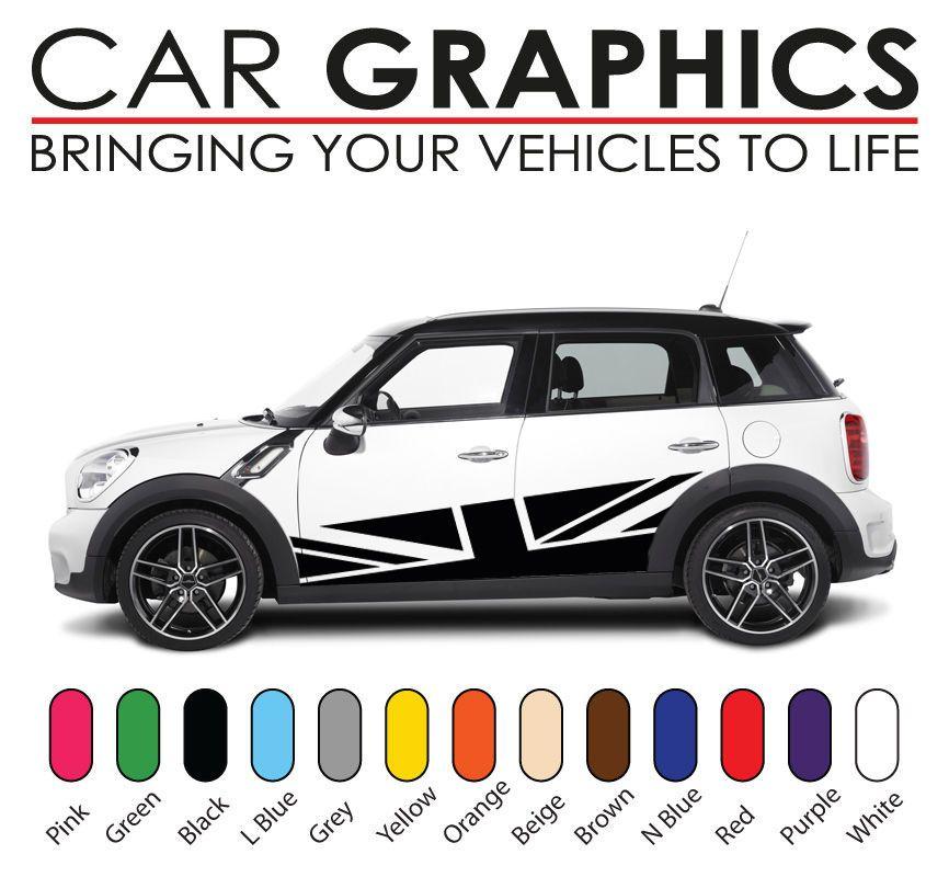 Mini cooper car graphics decals stickers vinyl design mn14