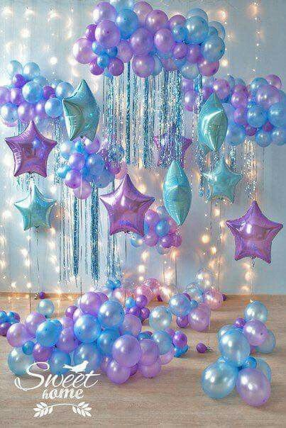 Mermaid Balloon Display Deco Ballon Birthday Decorations Themes For Parties