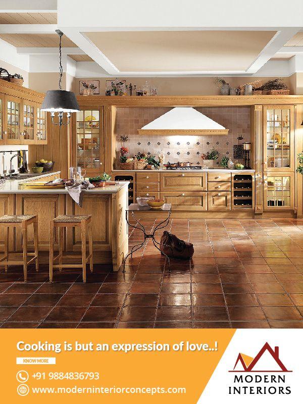 Tremendous Purple Theme Kitchen Interior Design With Modern Interior  Concepts In Chennai, India #Kitchen