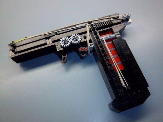 Functional LEGO Pistol With GIF Legos Lego Guns