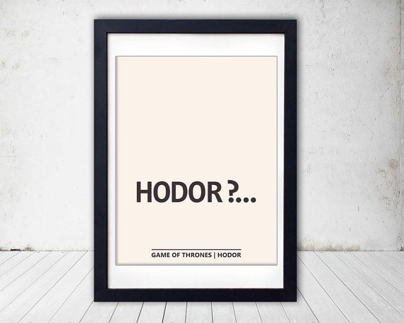 Game of Thrones Poster Hodor  instant by HappyPaperThoughts