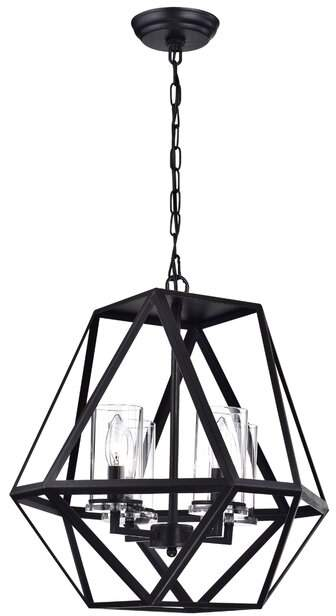 Alica 3 Light Candle Style Geometric Chandelier