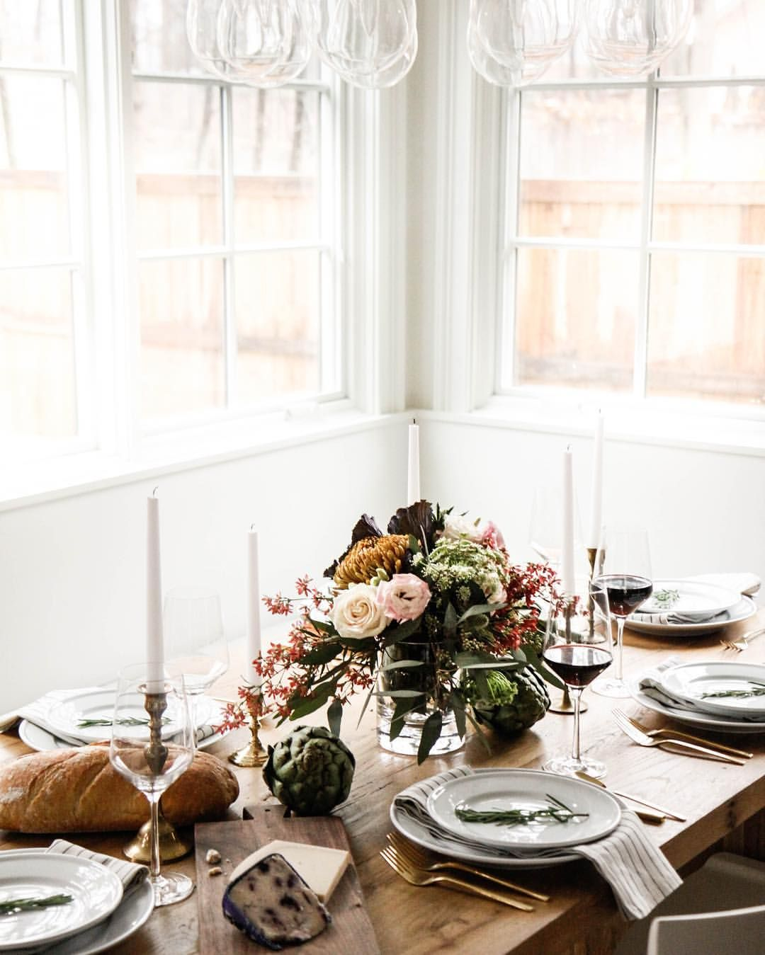 Simple elegant holiday table | set the table | Pinterest | Holiday ...