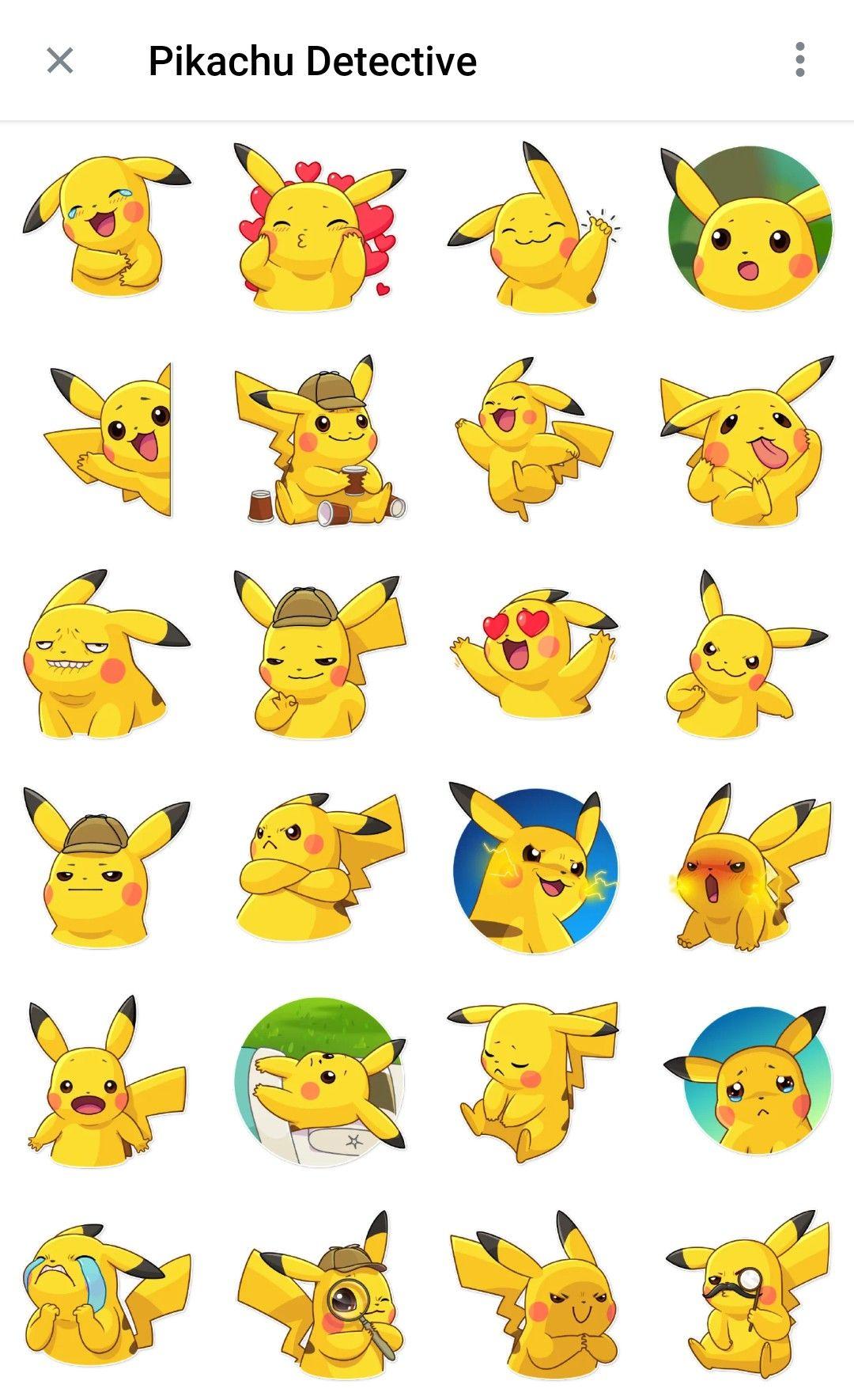 Pikachu Detective Telegram Sticker Packs In 2020 Pikachu Drawing Pikachu Pikachu Art
