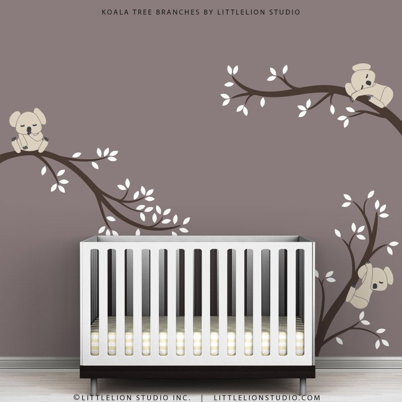 Kids Wall Decals Modern Cute Baby Room Tree Wall Sticker Koala - Baby room decals