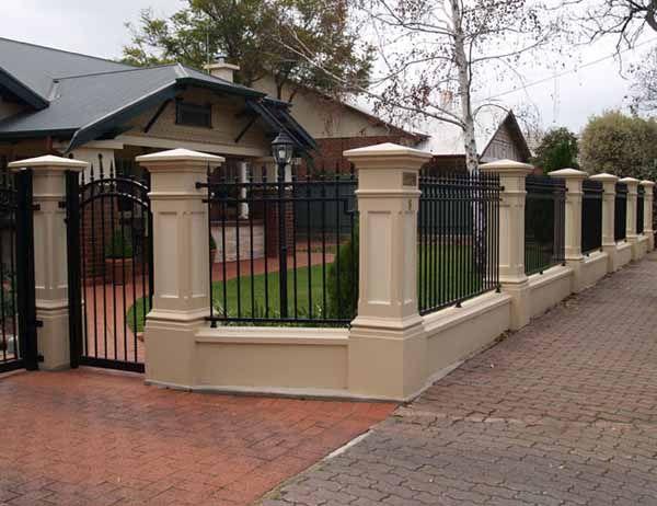 Concrete Front Fence Pillars Garden Design In 2019