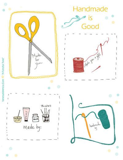 Neat way to personalize your handmade gifts freebies pinterest free printables negle Image collections