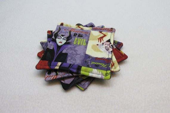 Disney Villains Coasters (Set of Four) #disneyvillains