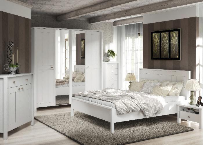 schlafzimmer komplett set aus der serie village. ganz in weiss, Schlafzimmer ideen