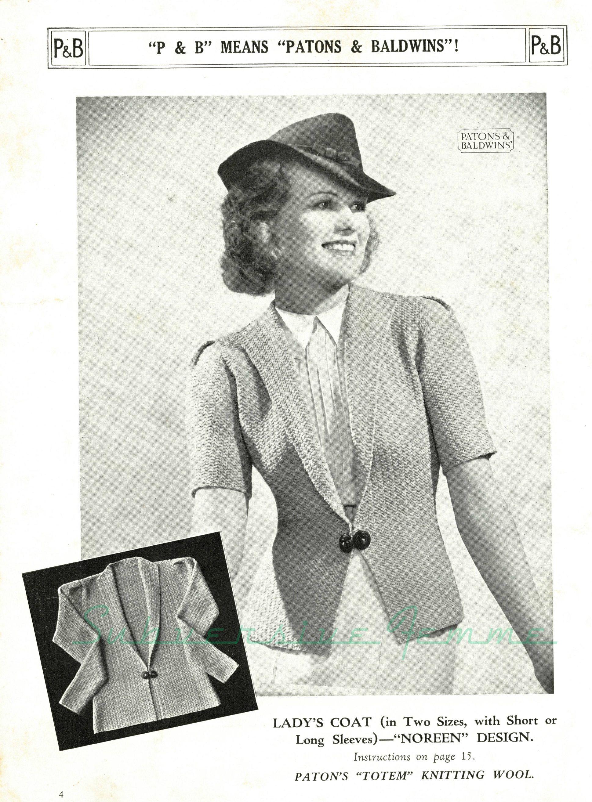 Curvy Pattern 6: Noreen jacket, c. 1930s – Subversive Femme ...