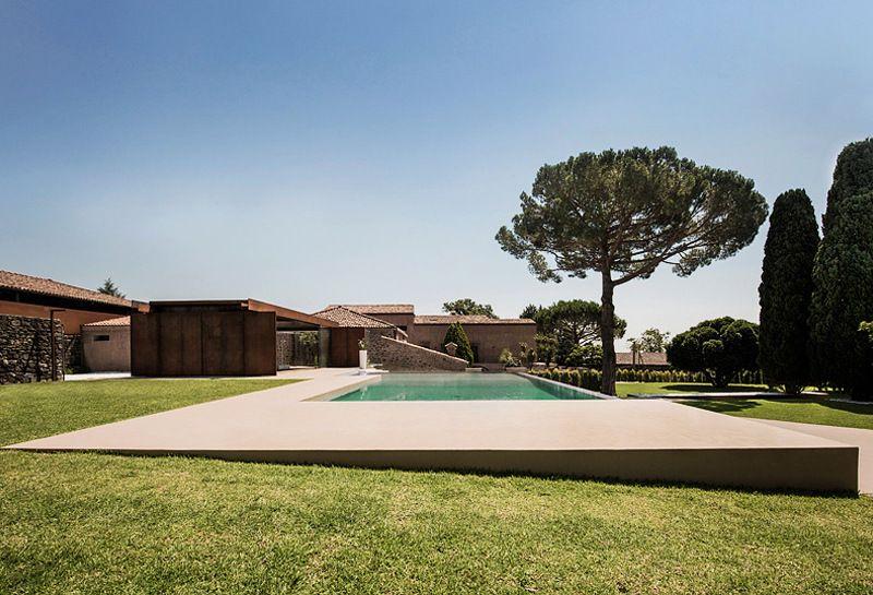 Moderner Garten im mediterranen Stil anlegen Pool Pinterest - garten anlegen mit pool