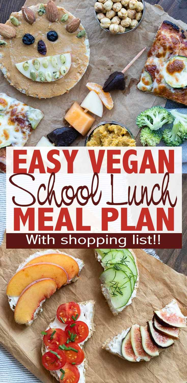 Easy Vegan Lunchbox Recipes 1 Week Meal Plan With Shopping