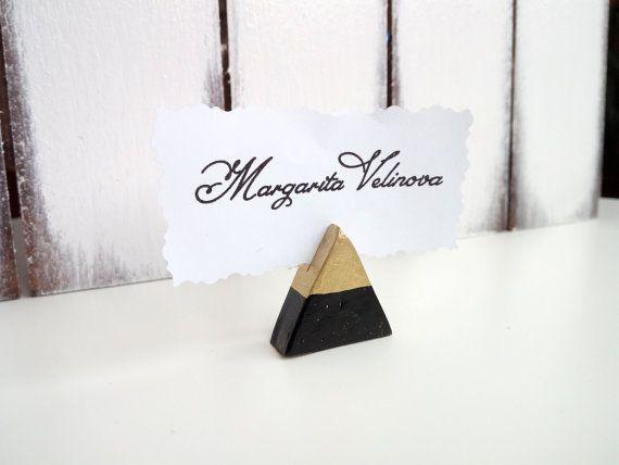 Custom Name Tag Holder Place Card Gold By Weddingmoodart Wedding Reception Places Signs