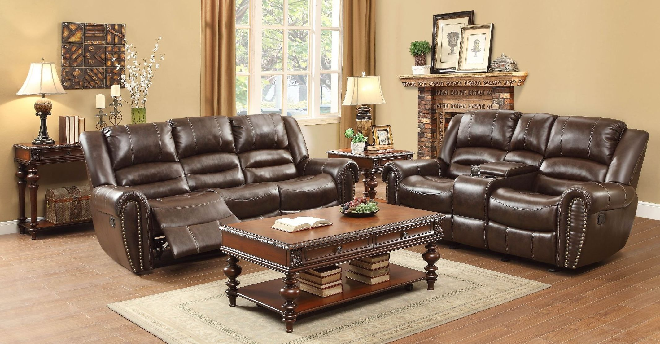 Surprising Vacherie Chocolate Double Reclining Sectional From Ashley Gmtry Best Dining Table And Chair Ideas Images Gmtryco