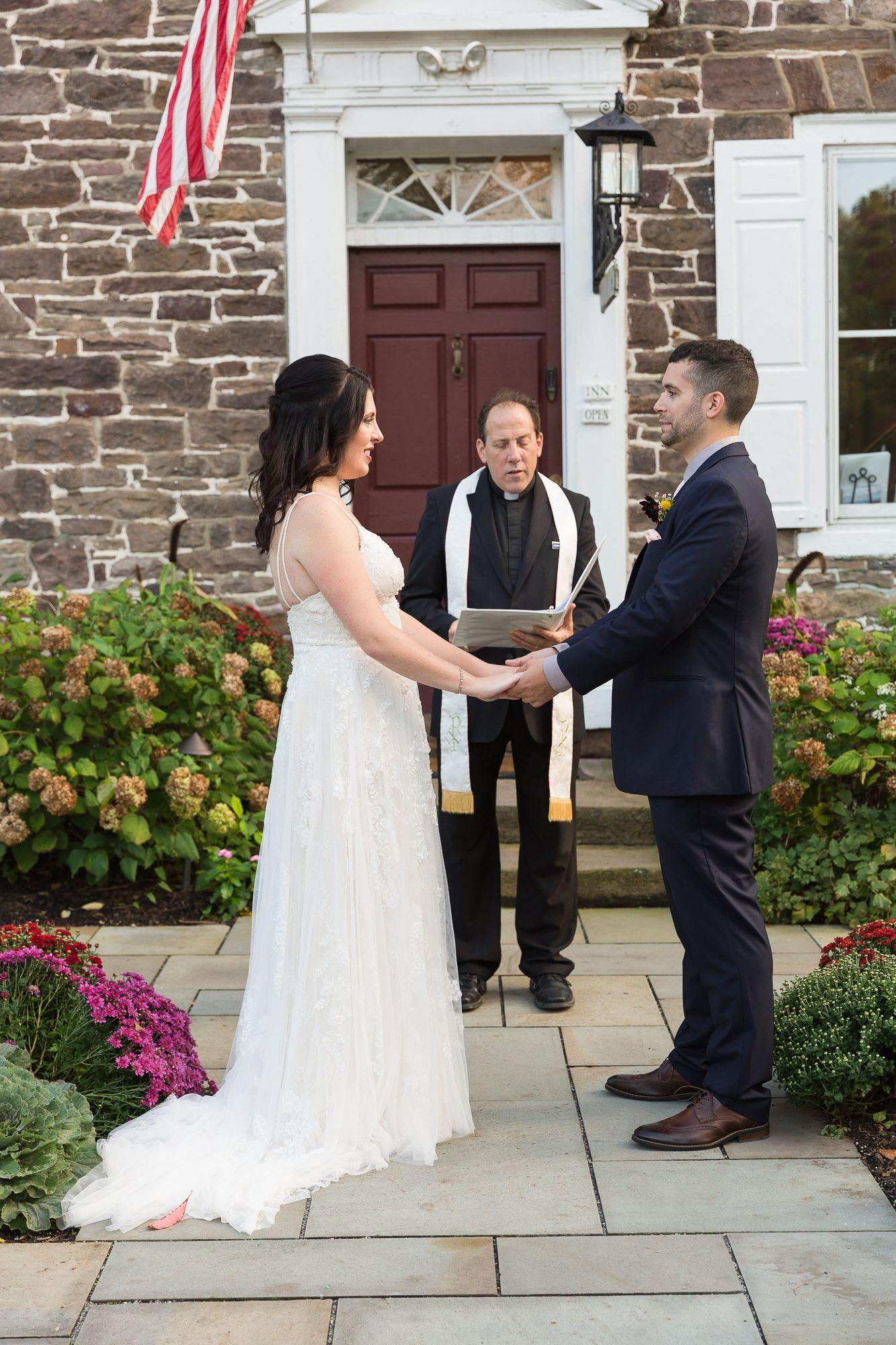 Wedding Ceremony At Woolverton Inn In 2020 Wedding Dresses Lace Wedding Wedding Dresses