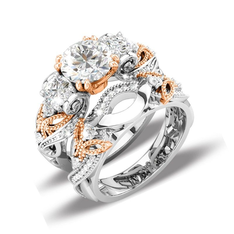 luxury wedding rings luxury butterfly wedding ring sets with three 5628