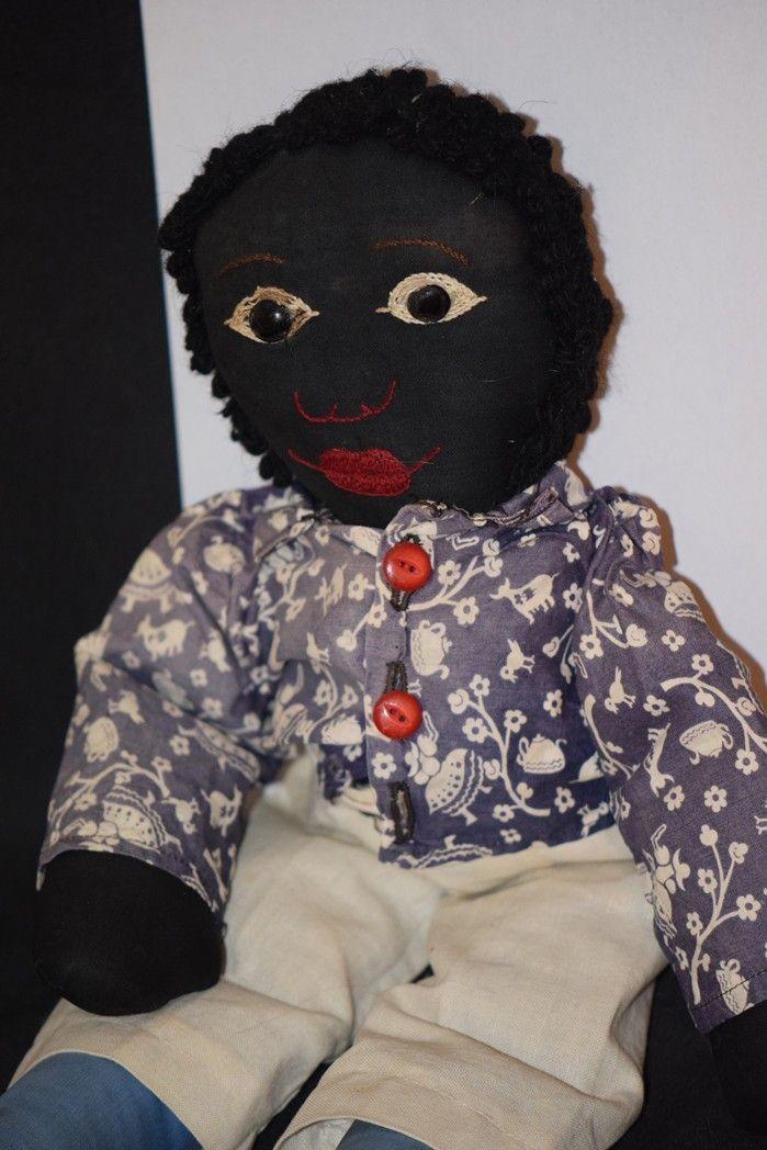 Vintage Doll Cloth Black Rag Wonderful