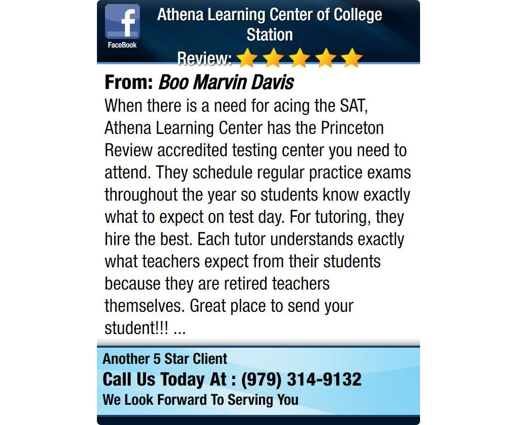 When there is a need for acing the SAT, Athena Learning