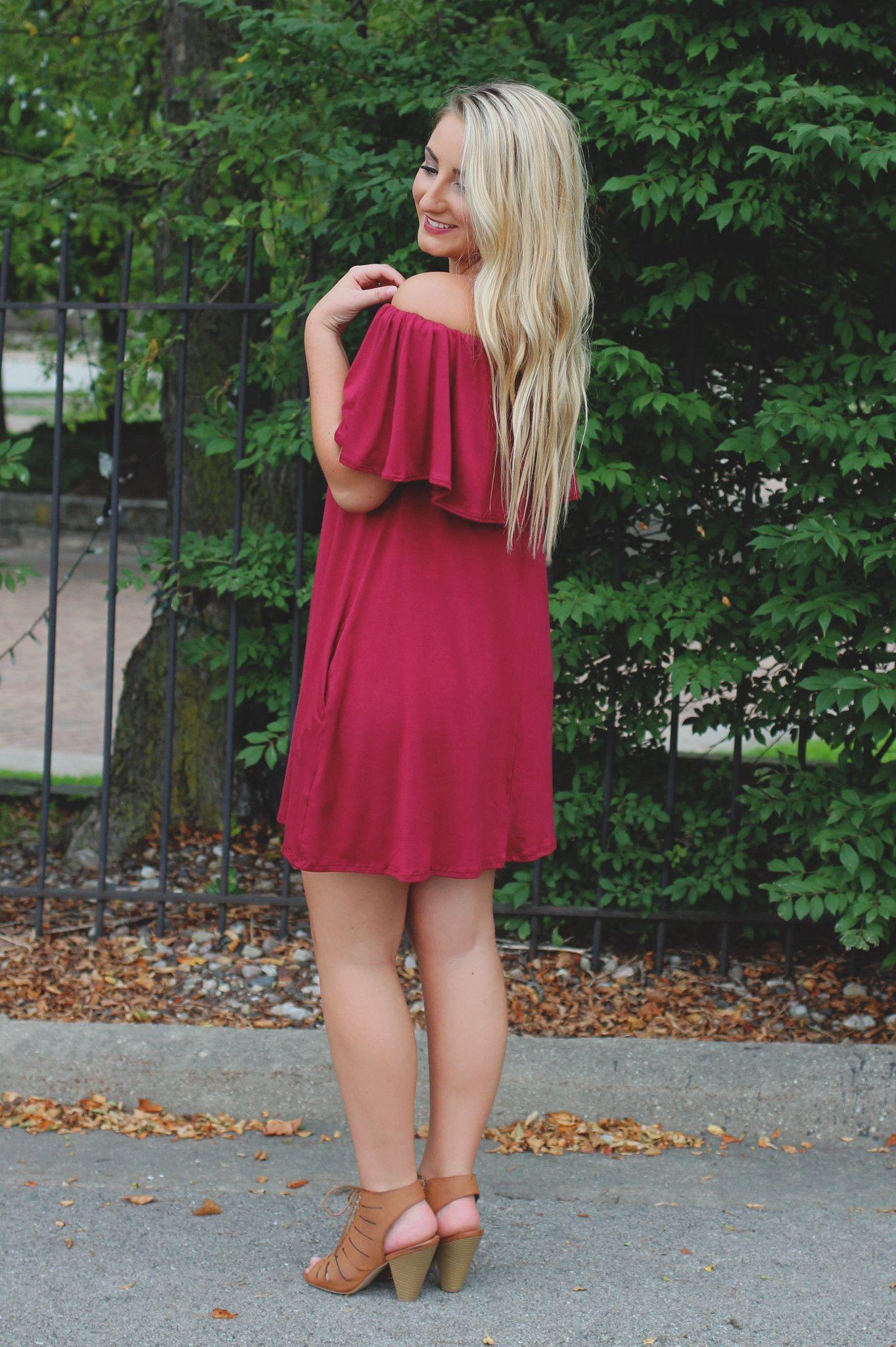 New Views Dress - Burgundy