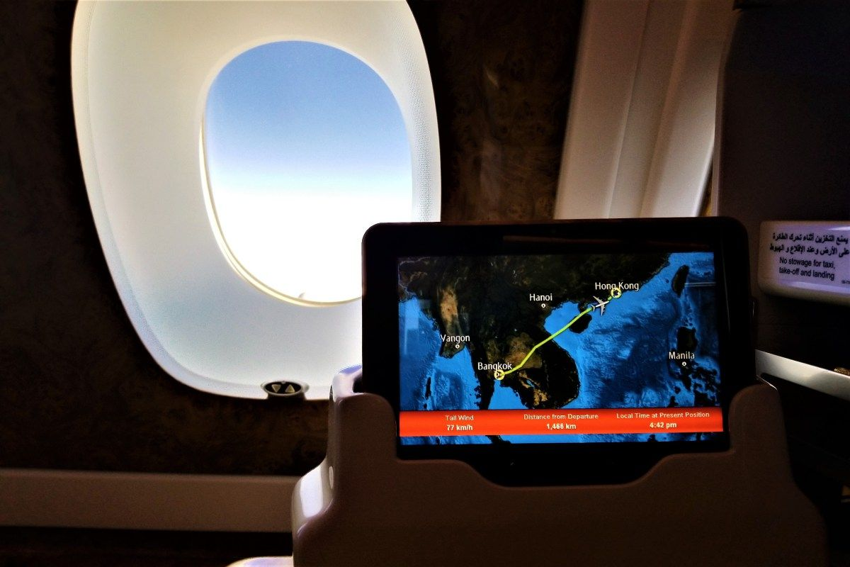 Flight Review Emirates Airline Airbus A380 800 Bangkok Hong