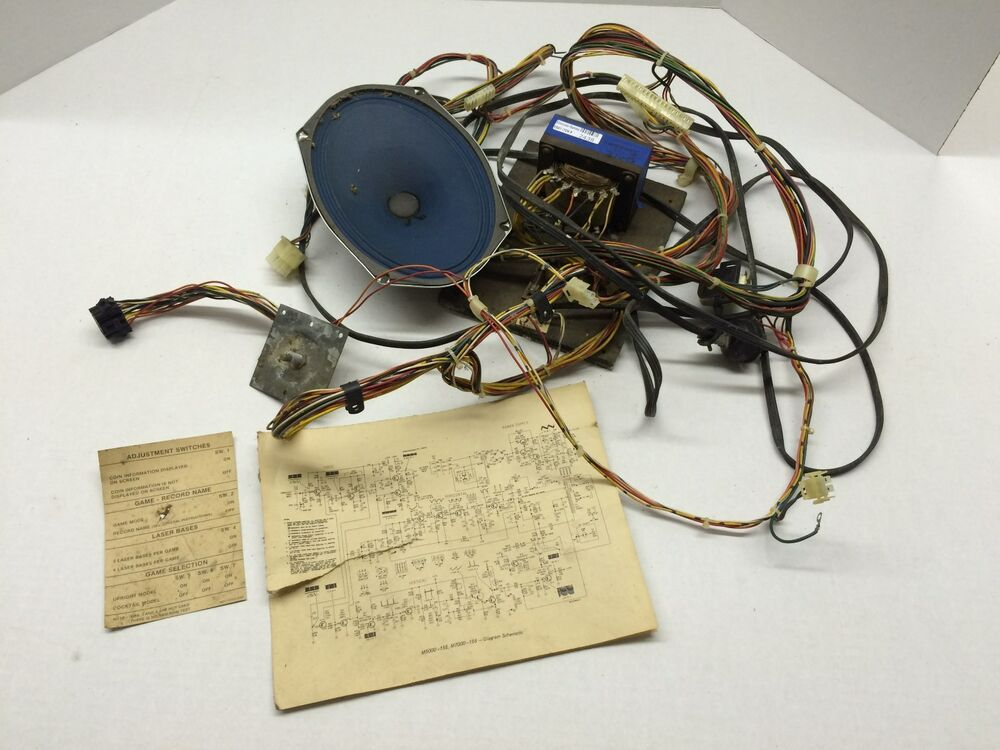 ebay #sponsored space invaders deluxe wiring harness with transformer  midway upright used #2438