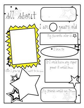 All About Me Worksheet | Homeschooldressage.com