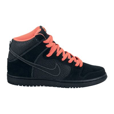 on sale fcc18 b3b47 nike sb schoenen dunk high black black atomic red white