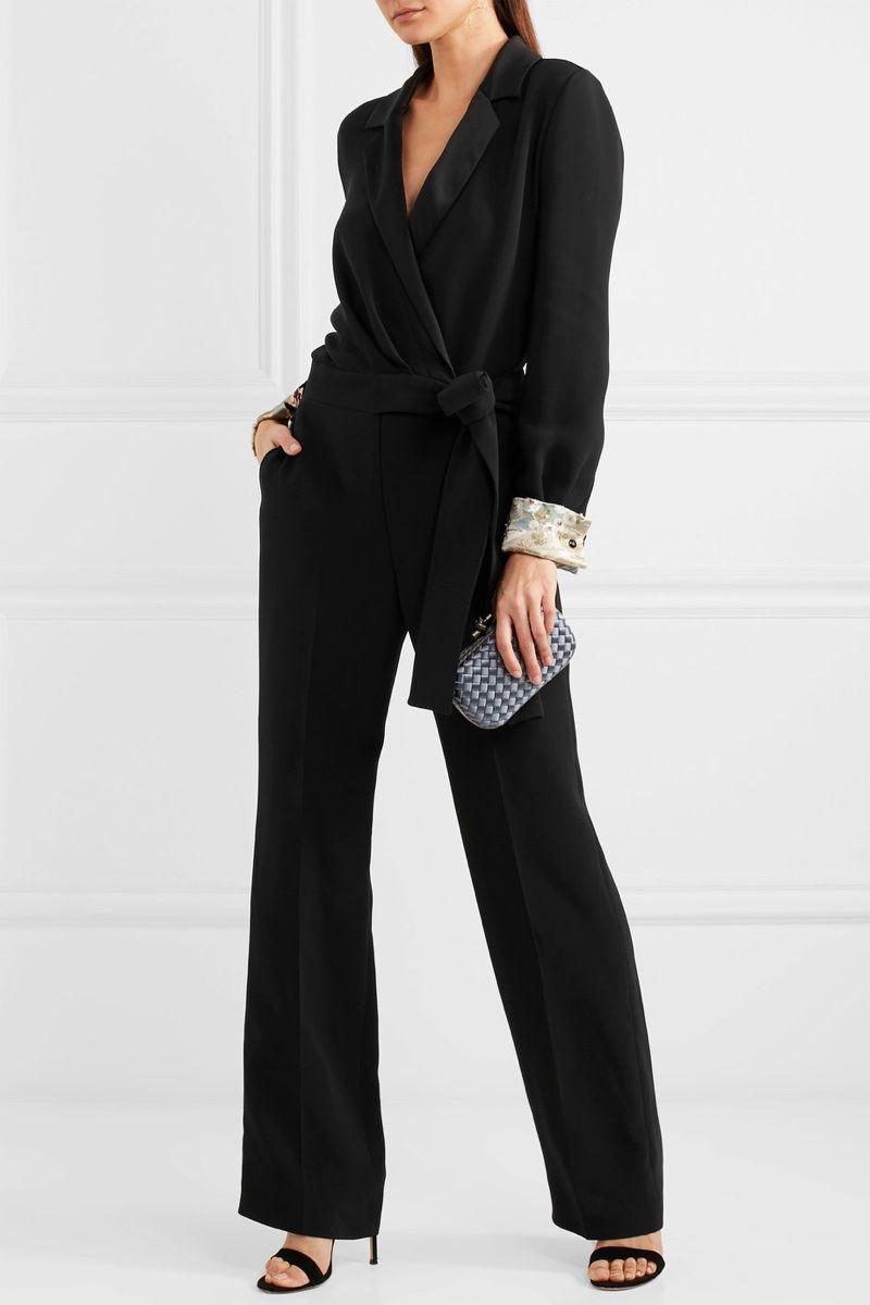 685ae33d02f Giorgio Armani Embellished Satin-Trimmed Silk-Blend Crepe Jumpsuit  8