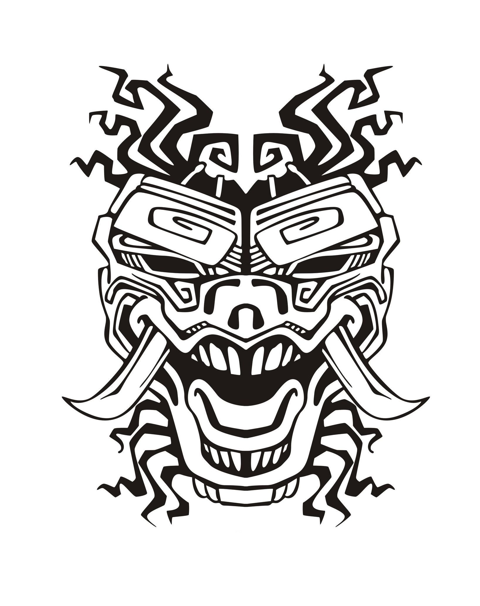 Free Coloring Page Coloring Adult Mask Inspiration Inca Mayan Aztec