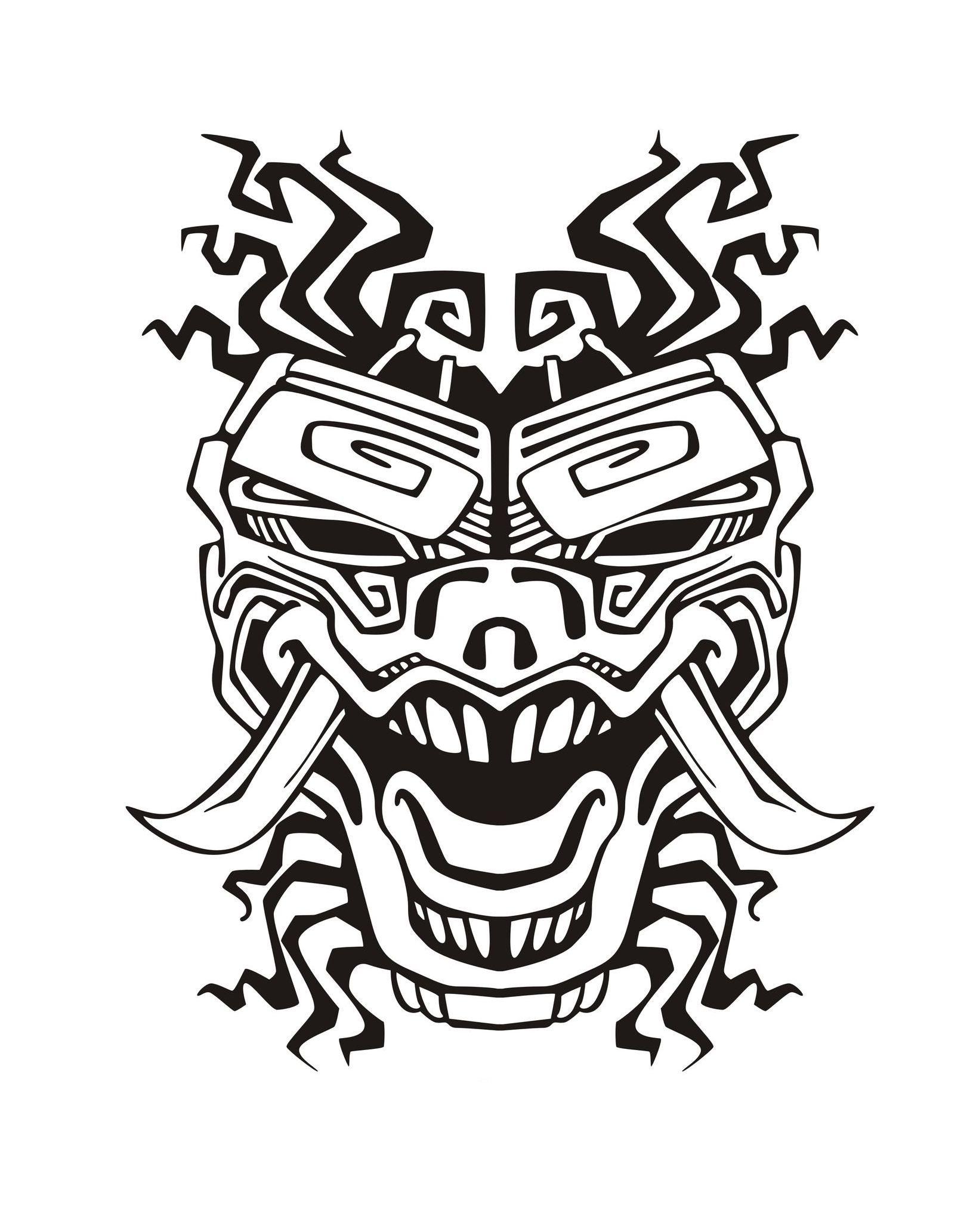 Mask Inspiration Inca Mayan Aztec 2